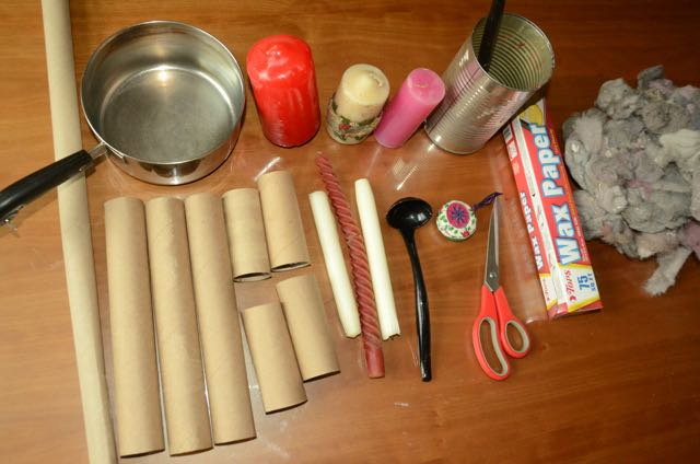 Supplies you will need to make homemade fire starters